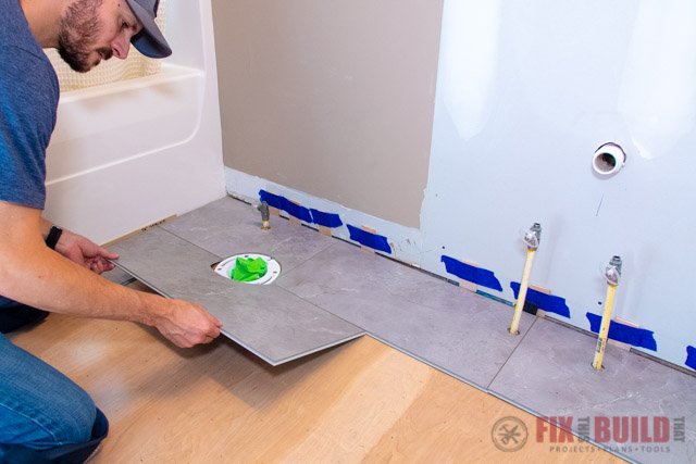 How To Install Vinyl Plank Flooring In A Bathroom Fixthisbuildthat
