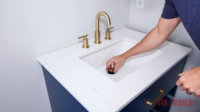 installing sink in bathroom