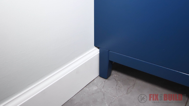 offset feet clear the baseboards