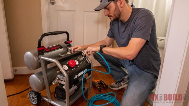 hooking up air compressor