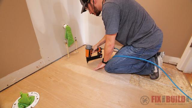 laying underlayment for vinyl plank flooring