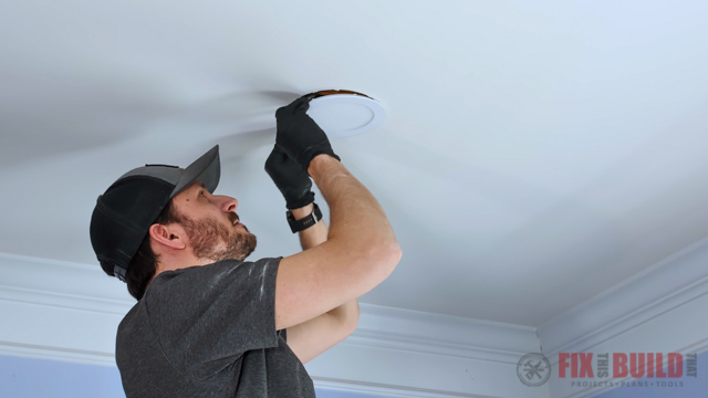 install recessed lighting in the ceiling