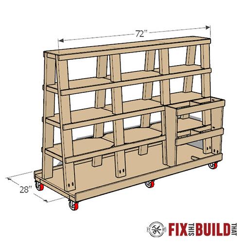 DIY Lumber Cart Plans