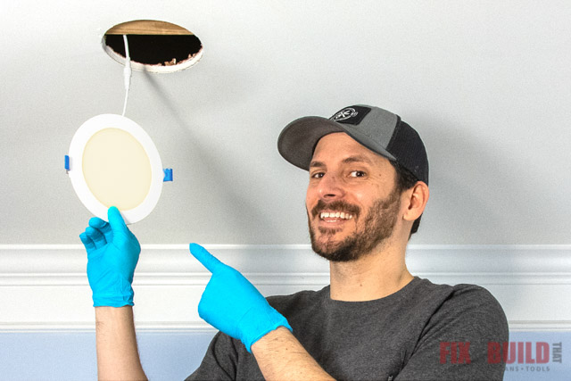 how to install recessed lighting in existing ceiling