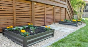 DIY Raised Garden Bed with Planters