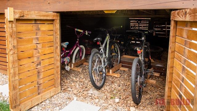 under deck diy bike stand