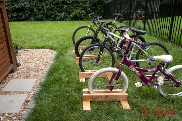 how to build a diy bike stand
