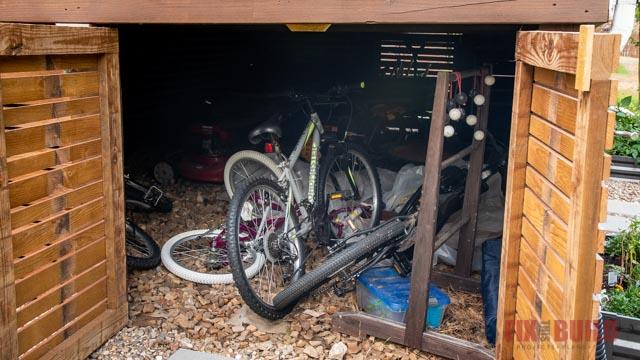 under deck bike storage