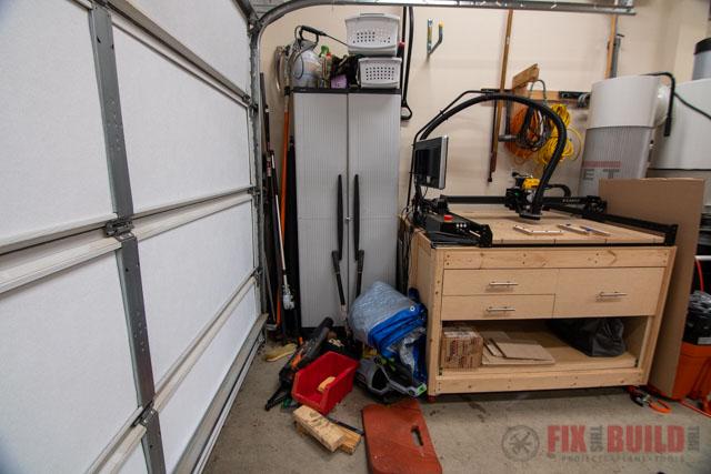 old garage storage cabinet