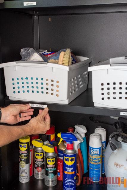 labeling shelves