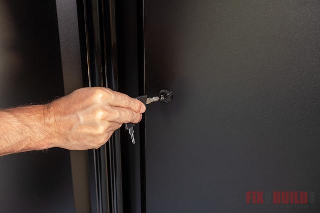 locking garage cabinet